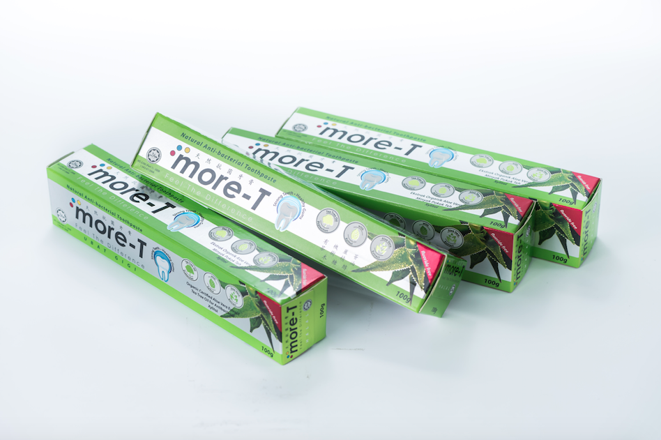 【more-T】天然抗菌牙膏4支